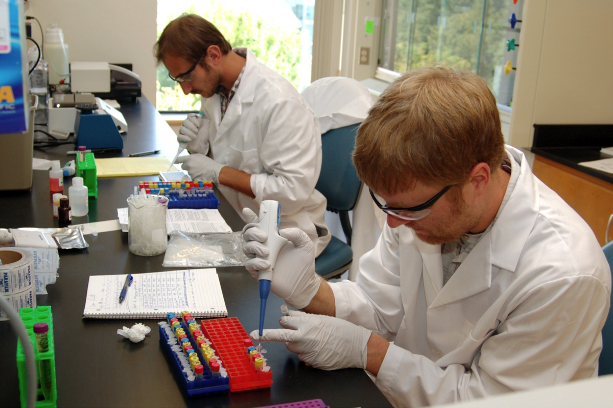 Cotinine assay. Mark Remiker (left) and Casey Roulette (right)
