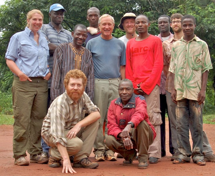 Ed Hagen (lower left) with Bagandou research team in the Central African Republic